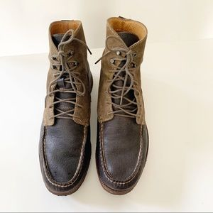 Rag & Bone Brown Suede Leather Lace Up Boots